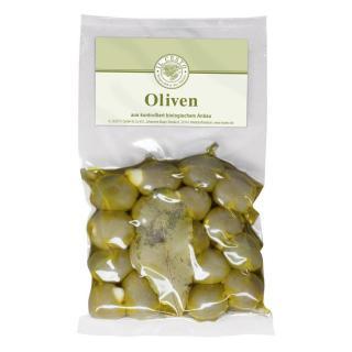 Oliven m.Knoblauch gef.,natur