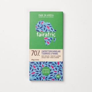 BIO 70% Zartbitterschokolade Tigernuss&Mandel