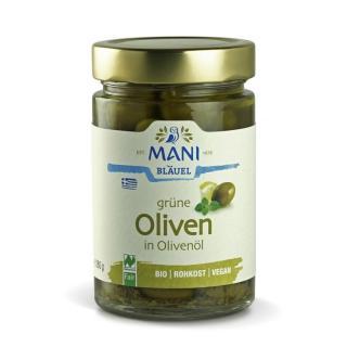 BIO Grüne Oliven in Olivenöl