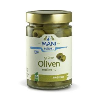 BIO Grüne Oliven in Lake entkernt