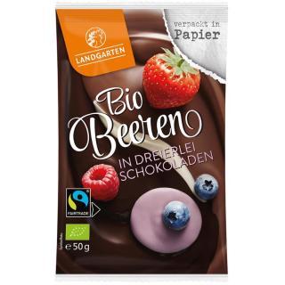 BIO Beeren in dreierlei Schokolade